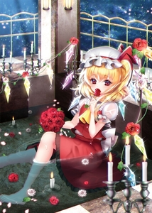 Rating: Safe Score: 0 Tags: 1girl afloat ascot asymmetrical_hair bare_legs barefoot bathing blonde_hair blurry candle candlelight candlestand checkered checkered_floor cherry_blossoms collar crystal demon_wings depth_of_field dress eyebrows eyebrows_visible_through_hair fire flame flandre_scarlet flower frilled_collar frills glint hat holding holding_flower indoors lantern light looking_at_viewer mob_cap petals petals_on_water pillar plant puffy_short_sleeves puffy_sleeves radge red_dress red_eyes red_rose rose short_hair short_sleeves side_ponytail sitting solo thorns touhou_project tsurime vines water water_drop wax white_hat wings User: DMSchmidt
