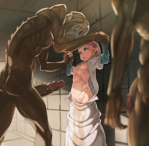 Rating: Explicit Score: 10 Tags: 1girl against_wall blonde_hair breasts censored cleft_of_venus crying crying_with_eyes_open erection eye_contact green_eyes hat height_difference highres huge_penis imminent_rape large_penis looking_at_another monster navel nipples ocarina_of_time open_mouth pee peeing peeing_self penis pinned_against_wall pointy_ears princess_zelda puffy_nipples pussy redead restrained ribs robe scared shaved_pussy short_over_long_sleeves size_difference small_breasts standing tears tenako the_legend_of_zelda torn_clothes wrist_grab you_gonna_get_raped young_zelda User: DMSchmidt