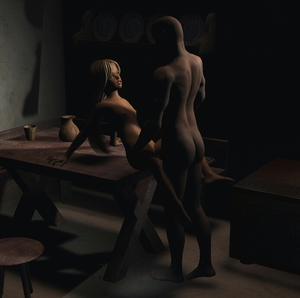 Rating: Explicit Score: 3 Tags: 1boy 1girl 3dcg age_difference arm_support ashonx between_legs blonde_hair blue_eyes father_and_daughter from_above hands_on_another's_thighs incest ladyk long_hair looking_at_each_other nipples nude on_table photorealistic sex small_breasts standing table uncensored vaginal User: Software