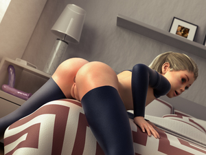 Rating: Questionable Score: 46 Tags: 1girl 3dcg badonion bed bedroom black_legwear dutch_angle highres indoors lamp long_hair long_sleeves open_mouth partially_visible_anus photorealistic pussy solo thighhighs uncensored zoey_(badonion) User: Domestic_Importer