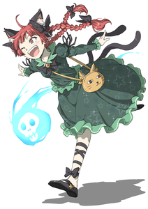 Rating: Safe Score: 0 Tags: 1girl ;d ahoge animal_ear_fluff animal_ears arm_ribbon aura bag bangs black_bow black_footwear black_neckwear black_ribbon blush bow bowtie braid brooch cat-shaped_bag cat_ears cat_tail extra_ears fangs flaming_skull frilled_shirt frilled_skirt frilled_sleeves frills full_body green_shirt green_skirt hair_bow hair_ribbon highres inuno_rakugaki jewellery juliet_sleeves kaenbyou_rin leg_ribbon long_hair long_sleeves mary_janes multiple_tails one_eye_closed open_mouth outstretched_arm pointy_ears puffy_sleeves red_eyes red_hair ribbon running shadow shirt shoes simple_background skirt skirt_set skull smile solo spread_arms star star_print tail themed_object touhou_project tress_ribbon twin_braids twin_tails two_tails white_background yellow_bag yellow_bow User: DMSchmidt
