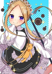 Rating: Safe Score: 1 Tags: 1girl abigail_williams_(fate/grand_order) akirannu apron bangs black_skirt blonde_hair blue_eyes bow butterfly_hair_ornament fate/grand_order fate_(series) hair_ornament headdress heroic_spirit_chaldea_park_outfit highres key long_hair looking_at_viewer maid maid_apron maid_headdress orange_bow parted_bangs skirt sleeves_past_fingers sleeves_past_wrists smile sparkle stuffed_animal stuffed_toy teddy_bear white_bow User: DMSchmidt