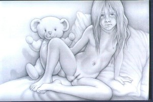 Rating: Questionable Score: 22 Tags: 1girl anus clitoral_hood covered_nipples heart knees_apart_feet_together legs_apart long_hair looking_at_viewer navel nipples nude on_bed pillow pussy richard_harris solo stuffed_animal stuffed_toy teddy_bear uncensored User: mythified