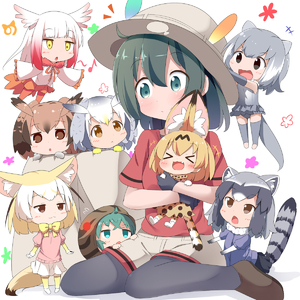 Rating: Safe Score: 0 Tags: +++ 10s 6+girls :3 :< :d >_< animal_ears backpack backpack_removed bag black_eyes black_gloves black_legwear blonde_hair blush brown_eyes brown_hair chibi closed_eyes common_raccoon_(kemono_friends) eurasian_eagle_owl_(kemono_friends) fang fennec_(kemono_friends) fox_ears fox_tail gloves gradient green_eyes green_hair grey_hair hat hat_feather head_wings highres hug japanese_crested_ibis_(kemono_friends) japari_symbol kaban_(kemono_friends) kemono_friends makuran multicoloured_hair multiple_girls musical_note northern_white-faced_owl_(kemono_friends) open_mouth otter_ears otter_tail pantyhose_under_shorts raccoon_ears raccoon_tail red_hair red_shirt serval_(kemono_friends) serval_ears serval_tail shirt short_hair shorts sitting small-clawed_otter_(kemono_friends) smile tail tsuchinoko_(kemono_friends) wariza xd yellow_eyes younger User: Domestic_Importer