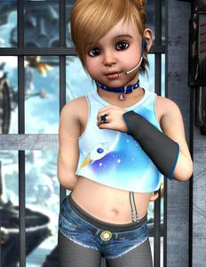 Rating: Safe Score: 2 Tags: 1girl 3dcg bell bell_collar brown_eyes brown_hair butterfly collar hands_on_own_chest highres jewellery leggings lip_piercing microphone midriff navel nose_piercing ring shorts starkid tagme tank_top User: mythified