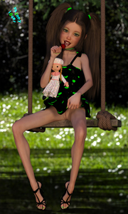 Rating: Questionable Score: 3 Tags: 1girl 3dcg blue_eyes candy dress dress_lift flat_chest grass high_heels lollipop looking_at_viewer outdoors photorealistic pose pussy shadow skinny_lover swing toy twin_tails User: fantasy-lover