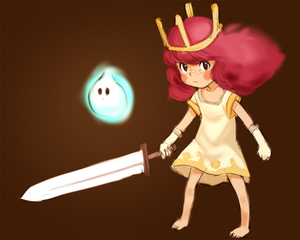 Rating: Safe Score: 0 Tags: 1girl barefoot blush_stickers brown_background child_of_light_(game) crown dress e10 elbow_gloves freckles gloves igniculus long_hair looking_at_viewer pink_hair princess_aurora simple_background sword weapon wisp User: DMSchmidt