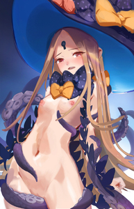 Rating: Questionable Score: 3 Tags: 1girl abigail_williams_(fate/grand_order) bangs black_bow black_hat blonde_hair blush bow breasts fate/grand_order fate_(series) hat hat_bow highres keyhole long_hair looking_at_viewer nemo_(leafnight) nipples nude open_mouth orange_bow parted_bangs polka_dot polka_dot_bow red_eyes small_breasts solo tentacles very_long_hair witch_hat User: DMSchmidt