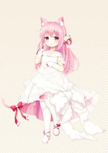 Rating: Safe Score: 0 Tags: 1girl animal_ears arm_up azur_lane bell cat_ears cat_tail dress flower gloves hair_flower hair_ornament hand_on_own_chest huziimiyuu jingle_bell kisaragi_(azur_lane) long_hair pantyhose pink_eyes pink_hair ribbon shoes smile solo tail tail_ribbon wedding_dress white_dress white_gloves white_legwear User: DMSchmidt