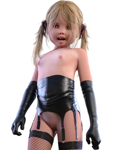 Rating: Questionable Score: 14 Tags: 1girl 3dcg black_gloves black_legwear cowboy_shot deepinside_(deepfake) elbow_gloves fishnet_legwear flat_chest from_below gloves highres leather leather_gloves long_hair looking_at_viewer looking_down navel open_mouth original photorealistic pussy solo thighhighs twin_tails uncensored User: Domestic_Importer
