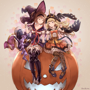 Rating: Safe Score: 0 Tags: alternate_costume blonde_hair blue_eyes blush_stickers boots brown_eyes cagliostro_(granblue_fantasy) capelet djeeta_(granblue_fantasy) frills gloves granblue_fantasy hairband halloween hat heels highres holding holding_hat hood long_hair milli_little mismatched_legwear neckerchief open_mouth pleated_skirt puffy_short_sleeves puffy_sleeves pumpkin ribbon sash short_hair short_sleeves simple_background skirt smile suspenders thigh_boots thighhighs tiara twitter_username waist_cape warlock_(granblue_fantasy) witch wizard_hat User: DMSchmidt