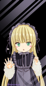 Rating: Safe Score: 2 Tags: 1girl against_glass amano_sakuya artist_name bangs black_background blonde_hair blunt_bangs blush_stickers dress fang frills glass gosick gothic_lolita green_eyes hairband highres lolita_fashion long_hair long_sleeves open_mouth ribbon solo standing tsurime very_long_hair victorica_de_blois User: Domestic_Importer