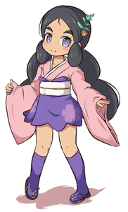 Rating: Safe Score: 0 Tags: 1girl bangs black_footwear black_hair blush closed_mouth colored_shadow cosplay creatures_(company) full_body furisode_girl_(pokemon) furisode_girl_(pokemon)_(cosplay) furisode_girl_shione furisode_girl_shione_(cosplay) game_freak hair_ornament hapu'u_(pokemon) high-waist_skirt japanese_clothes kimono kneehighs long_hair long_sleeves low_twintails nekono_rin nintendo parted_bangs pink_kimono pokemon pokemon_(game) pokemon_sm purple_eyes purple_legwear purple_skirt shadow skirt sleeves_past_wrists smile solo standing thick_eyebrows twin_tails very_long_hair white_background wide_sleeves zouri User: Domestic_Importer