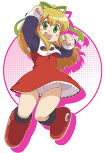 Rating: Safe Score: 4 Tags: 1girl :d arms_up blonde_hair blush_stickers boots capcom dress green_eyes hair_ribbon ki_(adotadot) knee_boots open_mouth panchira pantsu pink_pantsu ponytail red_skirt ribbon rockman rockman_(classic) roll skirt smile solo underwear upskirt User: DMSchmidt