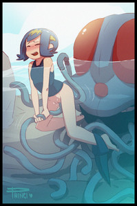 Rating: Explicit Score: 13 Tags: 1girl artist_name barefoot blue_hair blush bottomless closed_eyes npc_trainer one-piece_swimsuit open_mouth partially_submerged phinci pokemon pokemon_(creature) pokemon_(game) pokemon_sm pussy short_hair suiren_(pokemon) swimsuit tentacle_sex tentacles tentacruel trial_captain uncensored underwater vaginal water User: Domestic_Importer