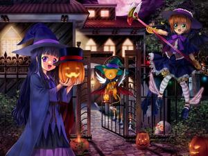 Rating: Safe Score: 0 Tags: cardcaptor_sakura daidouji_tomoyo fuuin_no_tsue gloves halloween jack-o'-lantern kero kinomoto_sakura knife magical_girl mutsuki_(moonknives) pumpkin witch User: DMSchmidt