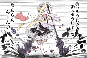 Rating: Safe Score: 0 Tags: 1girl :d >_< abigail_williams_(fate/grand_order) alternate_costume alternate_hairstyle apron bangs black_dress blonde_hair blush blush_stickers braid butterfly_hair_ornament closed_eyes crossed_bandaids dress eyebrows_visible_through_hair fang fate/grand_order fate_(series) hair_ornament headdress highres ink long_hair long_sleeves looking_at_viewer maid_apron maid_dress maid_headdress motion_blur neon-tetora open_mouth parted_bangs shirt sidelocks skirt sleeveless sleeveless_dress sleeves_past_fingers sleeves_past_wrists smile speed_lines stuffed_animal stuffed_toy teddy_bear tied_hair translation_request very_long_hair white_background white_shirt xd User: DMSchmidt
