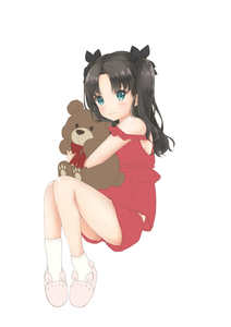 Rating: Safe Score: 0 Tags: 1girl absurdres bangs black_bow black_hair blue_eyes blush bow bowtie breasts closed_mouth eyebrows_visible_through_hair fate/stay_night fate_(series) full_body hair_bow highres holding holding_stuffed_animal long_hair mikujin_(mikuzin24) pajama red_bow red_neckwear red_shirt red_shorts shiny shiny_hair shirt short_shorts shorts sideboob simple_background sleeveless sleeveless_shirt slippers small_breasts smile socks solo stuffed_animal stuffed_toy teddy_bear toosaka_rin twin_tails white_background white_legwear younger User: DMSchmidt