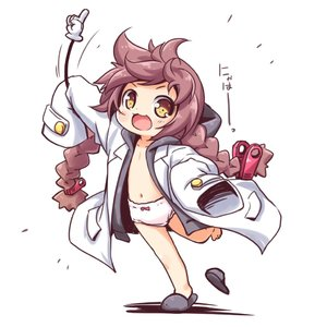 Rating: Questionable Score: 0 Tags: 1girl :3 arm_up black_footwear bow bow_panties braid brown_eyes brown_hair coat collarbone flat_chest footwear_removed full_body holding hood hooded_jacket hoodie jacket kuwada_yuuki long_hair low_twintails navel nearly_naked_coat no_pants open_clothes open_jacket open_mouth original outstretched_arm oversized_clothes pantsu running shadow simple_background single_slipper sleeves_past_fingers sleeves_past_wrists slippers smile solo standing standing_on_one_leg twin_braids twin_tails underwear very_long_hair white_background white_coat white_jacket white_pantsu User: Domestic_Importer