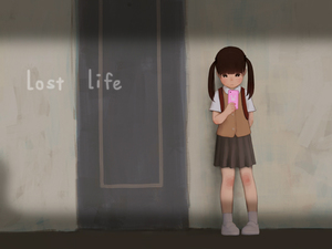 Rating: Safe Score: 4 Tags: 1girl artist_request backpack bag black_hair door flat_chest indoors long_hair looking_at_viewer lost_life_(happy_lamb_barn) mobile_phone phone school_uniform shoes skirt socks solo standing twin_tails white_legwear white_shoes User: Fui