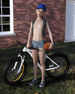 Rating: Questionable Score: 13 Tags: 1girl 3dcg 4888stockcarman april-4888 ball bicycle budding_breasts flat_chest freckles hat highres navel nipples open_mouth original photorealistic pose shoes shorts solo standing User: fantasy-lover