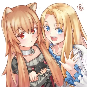 Rating: Safe Score: 3 Tags: 2girls :d angel_wings animal_ears bangs blonde_hair blue_eyes blue_neckwear brown_hair character_doll closed_mouth collarbone crossed_arms dress eyebrows_visible_through_hair feathered_wings firo_(tate_no_yuusha_no_nariagari) grey_shirt hair_between_eyes hair_intakes hakuya_kung highres long_hair long_sleeves looking_at_viewer multiple_girls open_mouth raccoon_ears raccoon_girl raphtalia red_eyes shiny shiny_hair shirt short_over_long_sleeves short_sleeves simple_background smile striped striped_shirt tate_no_yuusha_no_nariagari upper_body vertical-striped_shirt vertical_stripes very_long_hair white_background white_dress white_wings wings User: DMSchmidt