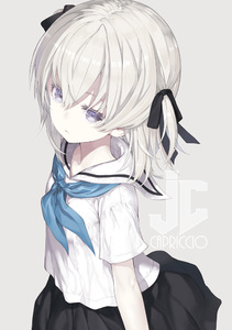 Rating: Safe Score: 1 Tags: 1girl artist_name bangs black_bow black_skirt blue_neckwear bow capriccio closed_mouth grey_background hair_between_eyes hair_bow long_hair looking_at_viewer neckerchief original pleated_skirt purple_eyes sailor_collar school_uniform serafuku shirt short_sleeves silver_hair simple_background skirt solo two_side_up white_sailor_collar white_shirt User: DMSchmidt