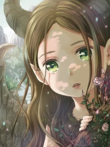 Rating: Safe Score: 4 Tags: 1girl brown_hair curious dappled_sunlight day disney feathered_wings fireflies flower forest green_eyes hair_behind_ear horns long_hair looking_at_viewer maleficent maleficent_(movie) moss nature outodoors parted_lips plant pose rose sleeping_beauty solo stream sunlight todo-akira wavy_hair wings younger User: DMSchmidt