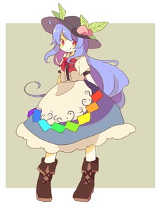 Rating: Safe Score: 0 Tags: 1girl blue_hair boots bow daizu_(melon-lemon) food fruit hat hinanawi_tenshi long_hair peach red_eyes smile solo tongue tongue_out touhou_project User: DMSchmidt