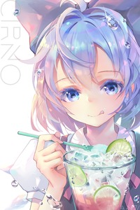 Rating: Safe Score: 0 Tags: 1girl artist_name blouse blue_bow blue_dress blue_eyes blue_hair blush bow cirno dress dress_shirt eyebrows_visible_through_hair eyelashes food fruit hair_bow highres holding ice ice_cream ice_cream_cup ice_cream_spoon ice_wings lemon licking_lips looking_at_viewer puffy_short_sleeves puffy_sleeves red_ribbon ribbon shirt short_hair short_sleeves simple_background solo spoon tongue tongue_out touhou_project tuanz upper_body water_drop watermark white_background white_blouse white_shirt wings User: DMSchmidt