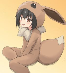 Rating: Safe Score: 5 Tags: 1girl animal_ears bangs between_legs black_hair blush brown_background brown_eyes cosplay eevee eevee_(cosplay) eevee_ears eevee_tail eyebrows_visible_through_hair fake_animal_ears fake_tail gen_1_pokemon hair_between_eyes hand_between_legs highres looking_at_viewer open_mouth poke_kid_(pokemon) pokemon pokemon_(game) pokemon_swsh shadow sitting solo tail upper_teeth yakihebi User: DMSchmidt