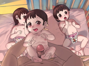 Rating: Explicit Score: 21 Tags: 1boy 3girls age_difference anime801 baby bare_legs bare_shoulders barefoot brown_eyes brown_hair cleft_of_venus clenched_hand crib diaper erection finger_to_mouth flat_chest lifting_person looking_at_viewer lying multiple_girls navel nipples nude on_back open_mouth penis pubic_hair pussy sexually_suggestive short_hair size_difference skin_contrast spread_legs straddling toddlercon tongue uncensored User: Domestic_Importer