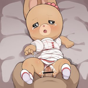 Rating: Explicit Score: 3 Tags: 1boy 1girl bed bed_sheet censored crying cum cum_in_pussy dress hetero highres kemono maple_town pantsu patty_(maple_town) penis pink_pantsu rinrin_doujin sex shoes tears underwear vaginal white_dress white_footwear User: Domestic_Importer
