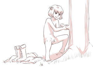 Rating: Explicit Score: 3 Tags: 1girl aogami cleft_of_venus erection flat_chest hair_ornament highres monochrome nude penis pussy spread_legs tagme User: DMSchmidt