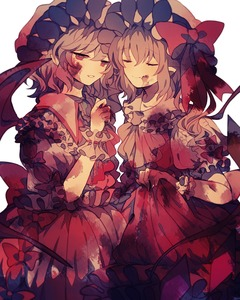 Rating: Safe Score: 0 Tags: 2girls ascot bat_wings blonde_hair blood blood_on_face bloody_clothes bow brooch closed_eyes crystal dress eyebrows_visible_through_hair fang flandre_scarlet frilled_shirt_collar frills grey_hair hand_up hat hat_bow highres jewellery mob_cap multiple_girls parted_lips pointy_ears puffy_short_sleeves puffy_sleeves red_bow red_dress red_eyes red_neckwear remilia_scarlet short_hair short_sleeves siblings side_ponytail simple_background sisters skirt_hold smile touhou_project white_background white_dress wings wiriam07 wrist_cuffs yellow_neckwear User: DMSchmidt