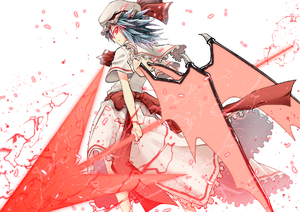 Rating: Safe Score: 0 Tags: 1girl akaneharu_ohkami back_cutout bat_wings blue_hair from_behind glowing glowing_eyes hat looking_at_viewer looking_back mob_cap red_eyes remilia_scarlet simple_background solo spear_the_gungnir standing touhou_project white_background wings User: DMSchmidt