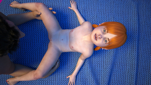 Rating: Explicit Score: 12 Tags: 1boy 1girl 3dcg age_difference barefoot flat_chest looking_at_viewer lunarctic missing_tooth nail_polish navel nipples nude photorealistic smile uncensored User: fantasy-lover