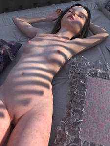 Rating: Questionable Score: 24 Tags: 1girl 3dcg black_hair breasts closed_eyes freckles long_hair lying_on_bed nipples pale_skin photorealistic pussy sleeping small_breasts solo User: yobsolo