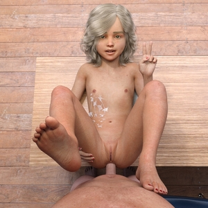Rating: Explicit Score: 35 Tags: 1boy 1girl 3dcg age_difference anal barefoot blonde_hair blue_eyes clitoris conny cum cum_on_body flat_chest looking_at_viewer lunarctic nail_polish navel nipples nude penis photorealistic pov pussy sex smile standing teeth v User: fantasy-lover
