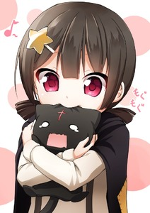 Rating: Safe Score: 6 Tags: 1girl animal bangs banned_artist biting black_cape black_cat black_hair blunt_bangs blush brown_hair cape cat chomusuke cross hair_ornament hairclip holding holding_animal komekko kono_subarashii_sekai_ni_shukufuku_wo! long_sleeves looking_at_viewer low_twintails musical_note nigiriushi o_o patch polka_dot polka_dot_background quaver red_eyes short_hair short_twin_tails star star_hair_ornament stitches tareme teardrop twin_tails upper_body User: DMSchmidt
