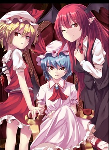 Rating: Safe Score: 0 Tags: 3girls arai_togami ascot bat_wings blonde_hair blue_hair crystal flandre_scarlet hat hat_ribbon head_wings highres jewellery koakuma long_hair long_sleeves looking_at_viewer mary_janes mob_cap multiple_girls necktie one_eye_closed open_mouth pointy_ears puffy_sleeves red_eyes red_hair remilia_scarlet ribbon shirt shoes short_hair short_sleeves sitting skirt skirt_set smile socks throne touhou_project vest white_legwear wings User: DMSchmidt