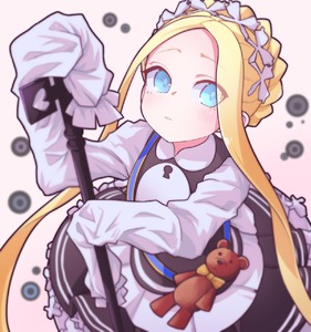 Rating: Safe Score: 1 Tags: 1girl abigail_williams_(fate/grand_order) absurdres alternate_costume bangs blonde_hair blue_eyes blush bow braid dress eyebrows_visible_through_hair eyes_visible_through_hair fate/grand_order fate_(series) from_above highres holding huge_filesize jipponwazaari key long_hair long_sleeves looking_at_viewer maid orange_bow parted_bangs sleeves_past_fingers sleeves_past_wrists solo stuffed_animal stuffed_toy teddy_bear very_long_hair User: DMSchmidt