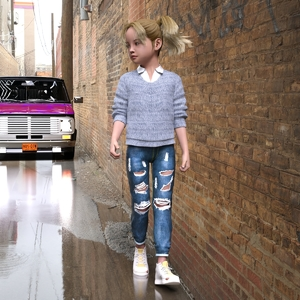 Rating: Safe Score: 5 Tags: 1girl 3dcg alley blonde_hair blue_eyes car draxlasto flat_chest hellen hellen_kidnapped looking_back outdoors photorealistic reflection shadow shoes walking User: fantasy-lover