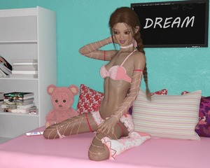 Rating: Questionable Score: 4 Tags: 1girl 3dcg bed blue_eyes braid chloe_(flamearrow111) flamearrow111 flat_chest hip_bones lingerie long_hair navel_piercing phone photorealistic pillow pose red red_hair ribs self_upload skinny slim_waist socks stuffed_animal stuffed_toy twin_braids User: FlameArrow111