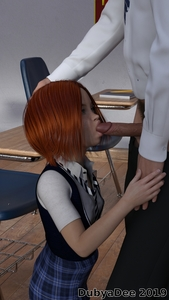 Rating: Explicit Score: 11 Tags: 1boy 1girl 3dcg age_difference dubyadee fellatio flat_chest freckles hand_on_another's_head holding_hands jade_dubyadee kneeling looking_up necktie oral penis photorealistic pubic_hair red_hair school_uniform skirt standing User: fantasy-lover