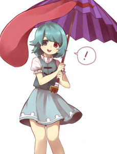Rating: Safe Score: 0 Tags: ! 1girl :d blue_hair coloured_eyelashes heterochromia highres holding holding_umbrella looking_at_viewer open_mouth puffy_short_sleeves puffy_sleeves round_teeth sasa_kichi short_hair short_sleeves skirt smile solo spoken_exclamation_mark tatara_kogasa teeth tongue touhou_project tunic umbrella User: DMSchmidt