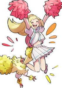 Rating: Safe Score: 0 Tags: 1girl backpack bag blonde_hair blush closed_eyes highres lillie_(pokemon) long_hair omiya599 open_mouth oricorio pokemon pokemon_(creature) pokemon_(game) pokemon_sm pom_poms ponytail shirt short_sleeves simple_background skirt white_background white_shirt white_skirt User: Domestic_Importer