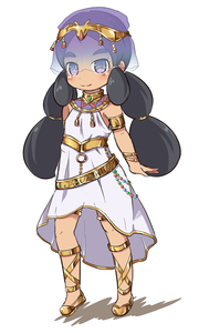 Rating: Safe Score: 0 Tags: 1girl armlet black_hair blush bracelet brown_footwear closed_mouth colored_shadow creatures_(company) dress full_body game_freak hapu'u_(pokemon) jewellery long_hair low_twintails nekono_rin nintendo pokemon pokemon_(game) pokemon_sm purple_eyes see-through shadow shoes sleeveless sleeveless_dress smile solo standing thick_eyebrows twin_tails veil very_long_hair white_background white_dress User: Domestic_Importer