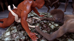 Rating: Explicit Score: 6 Tags: 1girl 3dcg 5boys age_difference anyhoo bangs barefoot blonde_hair blunt_bangs flat_chest interracial multiple_boys nude open_mouth penis photorealistic rape sex standing testicles User: fantasy-lover