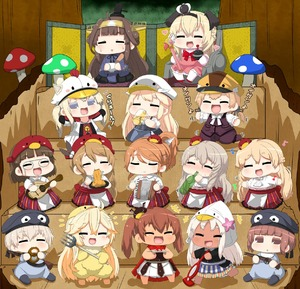 Rating: Safe Score: 0 Tags: +++ 10s 6+girls :d ^_^ ahoge alternate_costume aquila_(kantai_collection) bangs barefoot beer_mug bismarck_(kantai_collection) blonde_hair blush brown_eyes brown_hair chibi closed_eyes drinking eating flower glasses graf_zeppelin_(kantai_collection) hair_flower hair_ornament hairclip hat headgear heart high_ponytail highres iowa_(kantai_collection) kantai_collection kongou_(kantai_collection) libeccio_(kantai_collection) littorio_(kantai_collection) long_hair long_sleeves low_twintails multiple_girls musical_note open_mouth pola_(kantai_collection) ponytail prinz_eugen_(kantai_collection) puchimasu! ro-500_(kantai_collection) roma_(kantai_collection) short_hair silver_hair sitting skirt smile sweat twin_tails warspite_(kantai_collection) yuureidoushi_(yuurei6214) z1_leberecht_maass_(kantai_collection) z3_max_schultz_(kantai_collection) zara_(kantai_collection) User: DMSchmidt